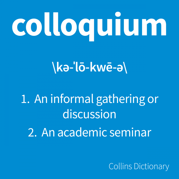 Colloquium dictionary definition