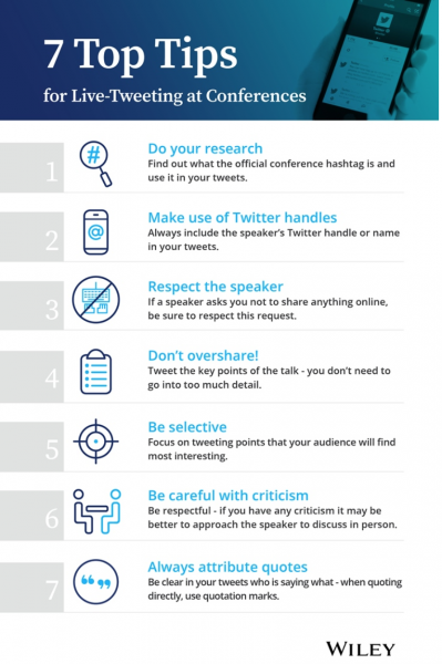 Social media tips from Wiley